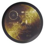 El disco de oro del viajero platos de comidas