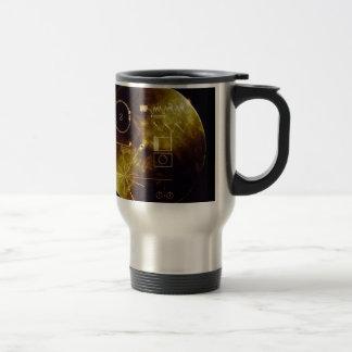 El disco de oro del viajero taza de viaje de acero inoxidable