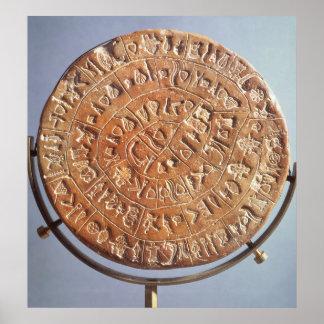 El disco de Phaistos, con la significación descono Póster
