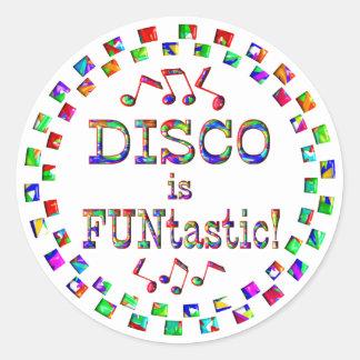 El disco es Funtastic Pegatina Redonda