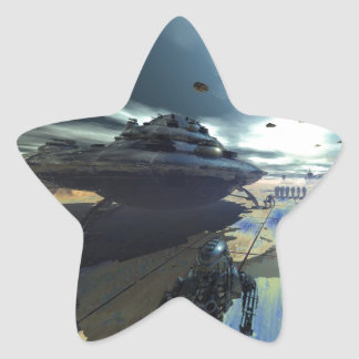 el disco estupendo pegatina en forma de estrella
