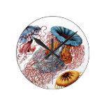 El disco Medusae de Ernst Haeckel Reloj Redondo Mediano