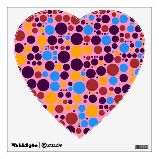 El disco multicolor circunda púrpura, azul, amaril vinilo adhesivo