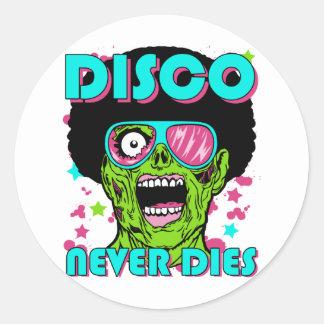 El disco nunca muere pegatina redonda
