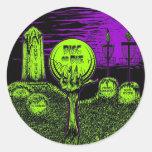 El disco o muere - diseño del golf del disco pegatina