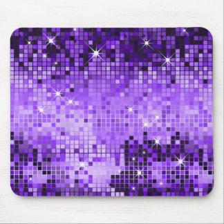 El disco púrpura metálico de la mirada de las lent tapete de ratones