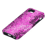 El disco rosado metálico de la mirada de las iPhone 5 Case-Mate protector