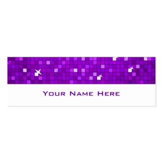 El disco teja blanco flaco púrpura de la tarjeta tarjetas de visita mini