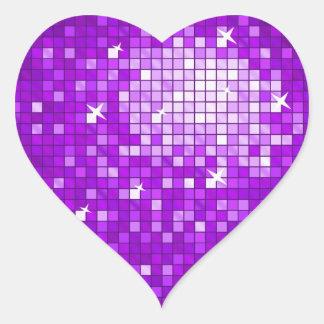 El disco teja el corazón púrpura del pegatina