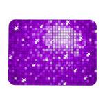 El disco teja el imán superior púrpura