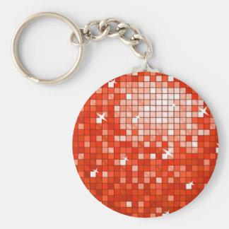 El disco teja el llavero rojo redondo