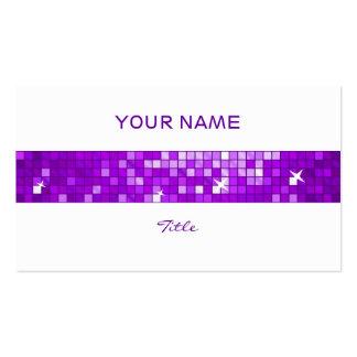 El disco teja la parte posterior púrpura del tarjetas de visita