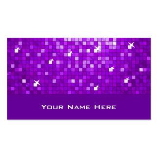 El disco teja la tarjeta de visita púrpura