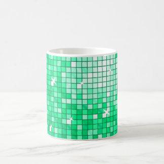 El disco teja la taza del jade