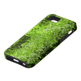 El disco verde metálico de la mirada de las lentej iPhone 5 carcasas