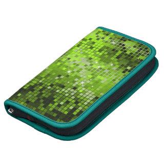 El disco verde metálico de la mirada de las lentej organizadores