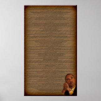 El discurso de aceptación de Barack Obama Póster