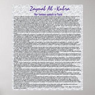 El discurso famoso de Zaynab Póster