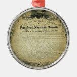 El discurso inaugural de presidente Abraham Adorno Navideño Redondo De Metal