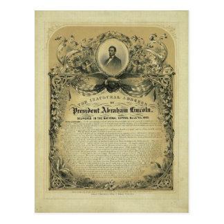El discurso inaugural de presidente Abraham Tarjeta Postal