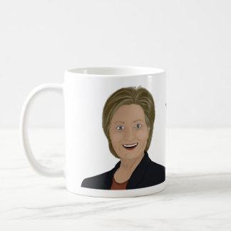El discusión de Hillary Clinton y discrepa taza