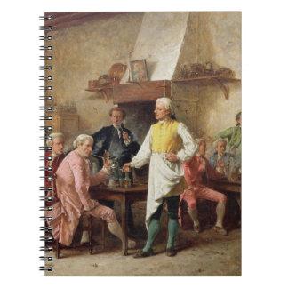 El discusión de un caballero, 1881 (aceite en el p libro de apuntes con espiral