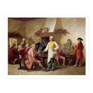 El discusión de un caballero, 1881 (aceite en el p postales