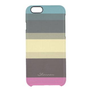 El diseñador de encargo colorea la caja clara funda clearly™ deflector para iPhone 6 de uncommon