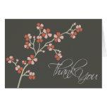 El diseñador de la flor de cerezo le agradece card tarjetón