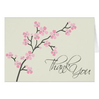 El diseñador de la flor de cerezo le agradece la t tarjeta pequeña