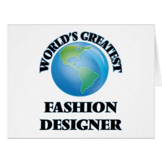 El diseñador de moda más grande del mundo tarjeta de felicitación grande
