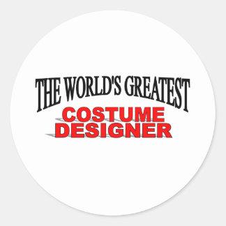 El diseñador de vestuario más grande del mundo pegatina redonda