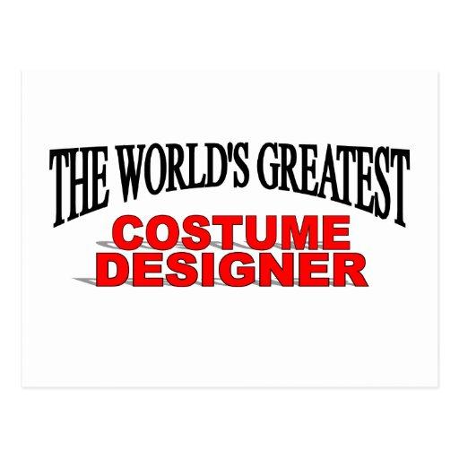 El diseñador de vestuario más grande del mundo tarjetas postales