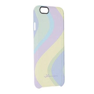 El diseñador en colores pastel colorea la caja funda clearly™ deflector para iPhone 6 de uncommon