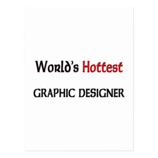 El diseñador gráfico más caliente de los mundos tarjeta postal