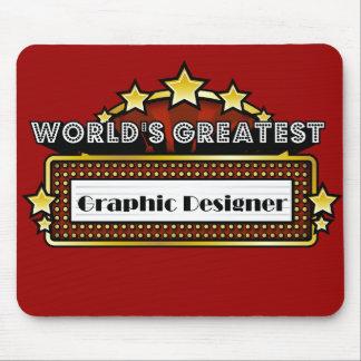 El diseñador gráfico más grande del mundo tapetes de ratones