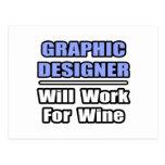 El diseñador gráfico… trabajará para el vino postales