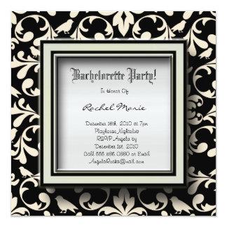 El diseñador LINDO del fiesta de Bachelorette Invitación 13,3 Cm X 13,3cm