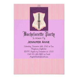 El diseñador LINDO del fiesta de Bachelorette Invitación 12,7 X 17,8 Cm