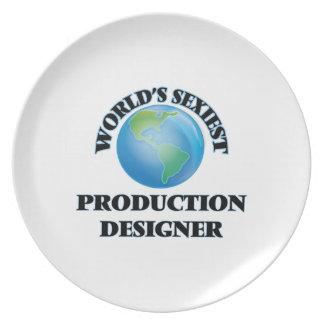 El diseñador más atractivo de la producción del platos de comidas