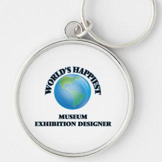 El diseñador más feliz de la exposición del museo llavero redondo plateado