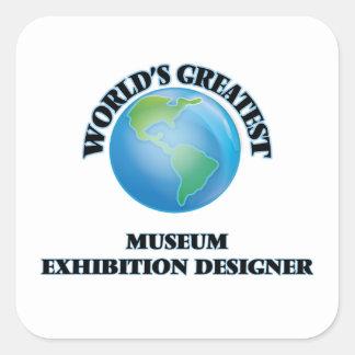 El diseñador más grande de la exposición del museo pegatinas cuadradases personalizadas