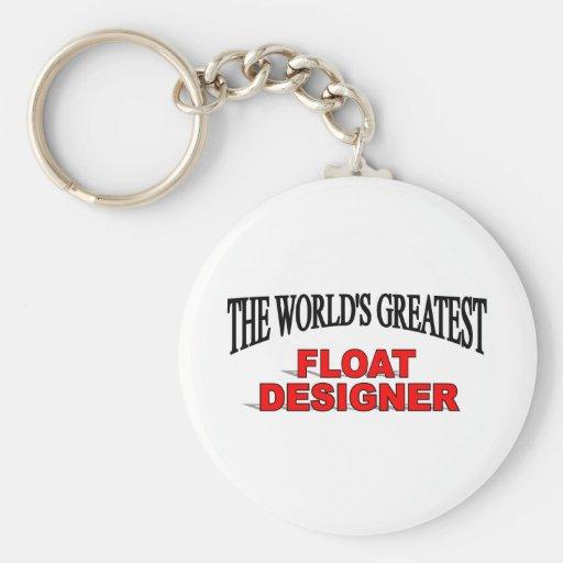 El diseñador más grande del flotador del mundo llaveros personalizados