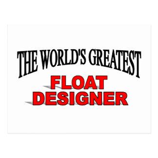 El diseñador más grande del flotador del mundo tarjeta postal