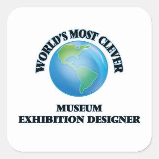 El diseñador más listo de la exposición del museo calcomania cuadradas personalizada