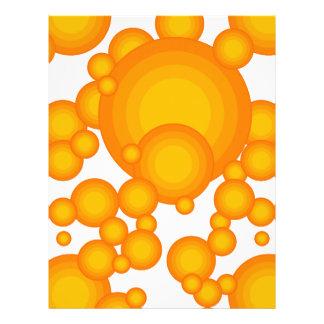 El diseñar anaranjado del año de los años 70 tarjetón
