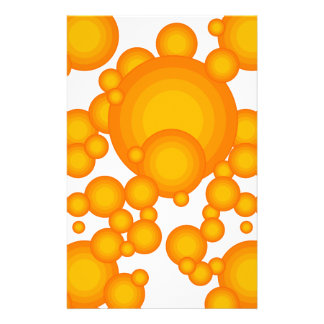 El diseñar anaranjado del año de los años 70 papelería de diseño