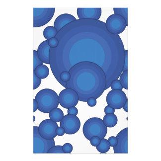 El diseñar azul del año de los años 70 tarjeton