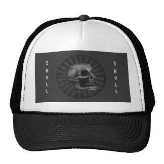el diseño 1 del círculo del cráneo gorras de camionero