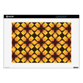 el diseño 70s 02 años 70 Brown anaranjado calienta Calcomanías Para Portátiles